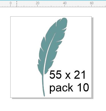 Feather 1 pack of 10.Chipboard